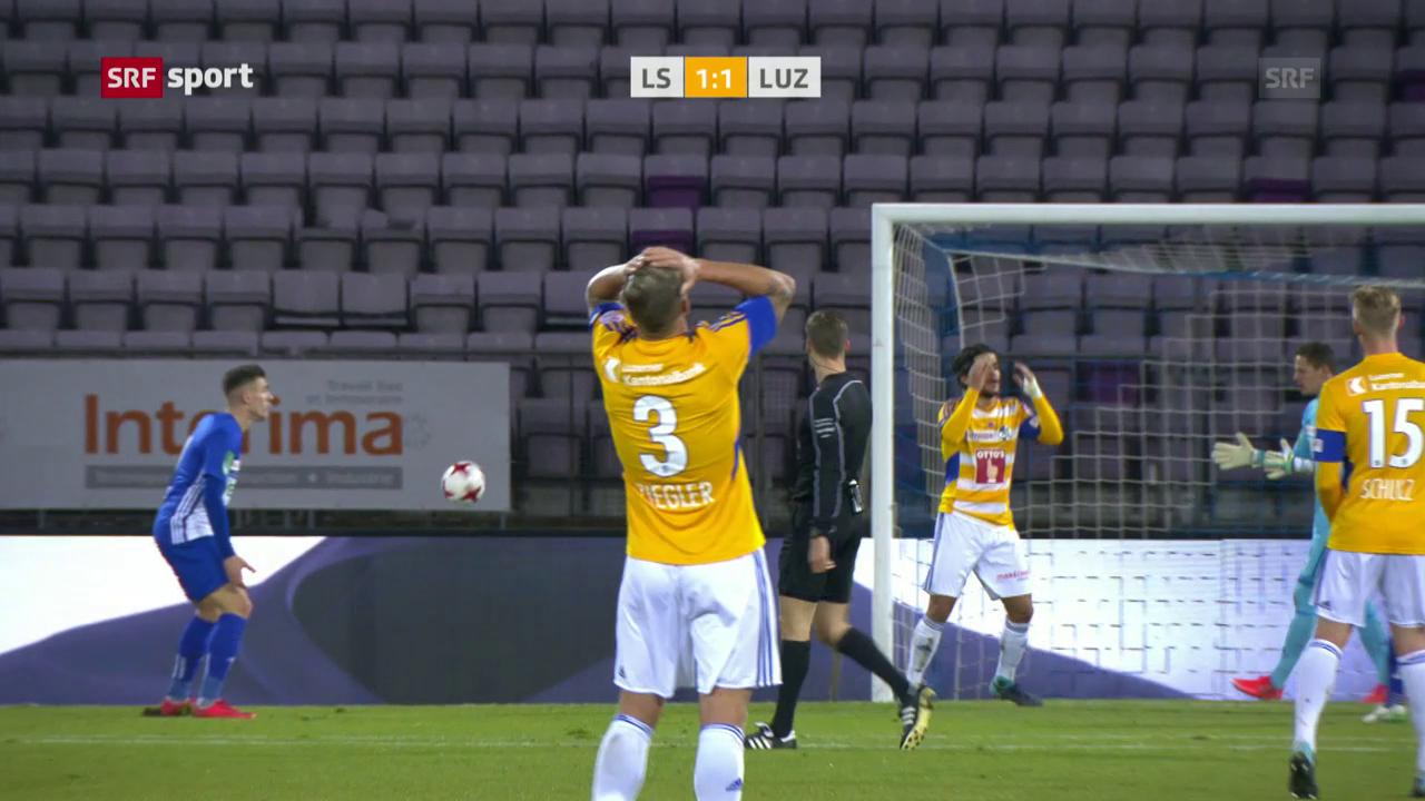 Lausanne dreht die Partie gegen Luzern