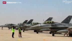 Video «Jordanien bombardiert IS-Stellungen» abspielen
