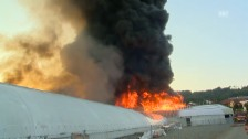Video «Brand in Züberwangen/SG (unkommentiert)» abspielen