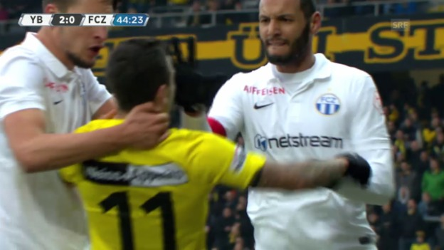 Video «Fussball: Super League, 25. Runde, YB - FCZ, Rote Karte Chikhaoui» abspielen