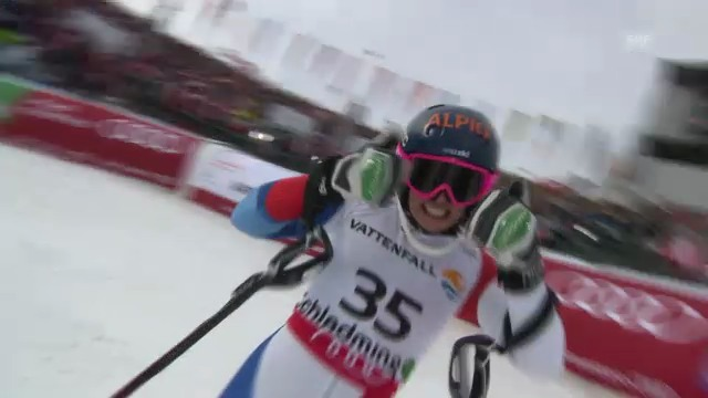 WM-Slalom: 2. Lauf Gisin