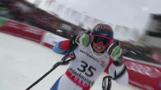 Video «WM-Slalom: 2. Lauf Gisin» abspielen