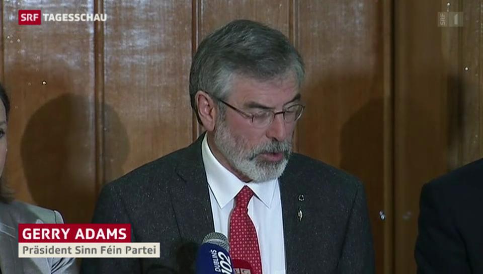 Nordirland: Gerry Adams freigelassen