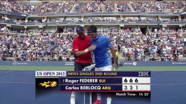 Video «Tennis: Highlights Federer - Berlocq («sportlive»)» abspielen