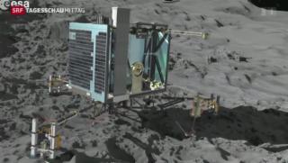 Video «Erste Probleme nach der Landung von Philae» abspielen