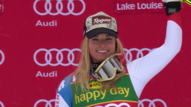 Video «Lara Gut triumphiert im Super-G von Lake Louise» abspielen