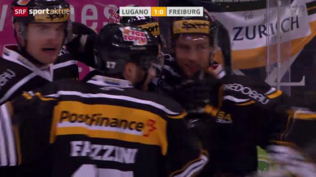Video «Eishockey: Lugano - Freiburg» abspielen