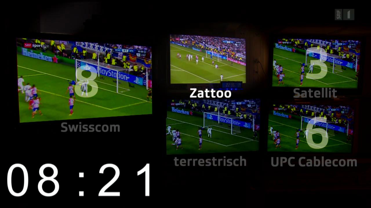 Lahme TV-Leitungen: Bis 50 Sekunden Bild-Verzögerung