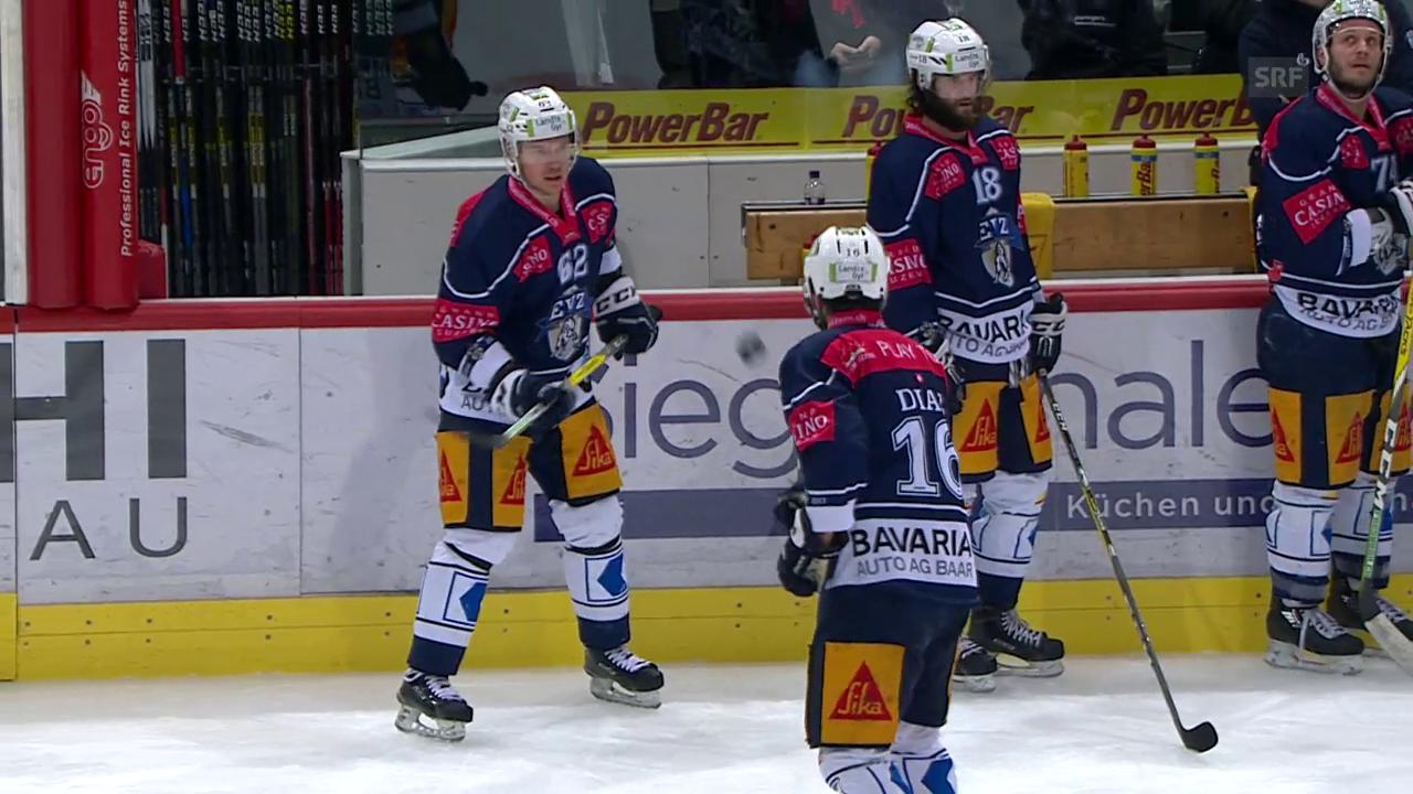 Hohe Hockeykunst: Diaz und Immonen beim Puck-Jonglieren