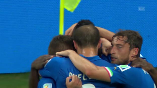 Video «Fussball: WM 2014, Zusammenfassung England - Italien» abspielen