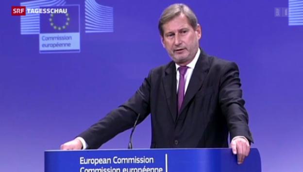 Video «EU-Kommissar Hahn zu Ecopop-Nein» abspielen