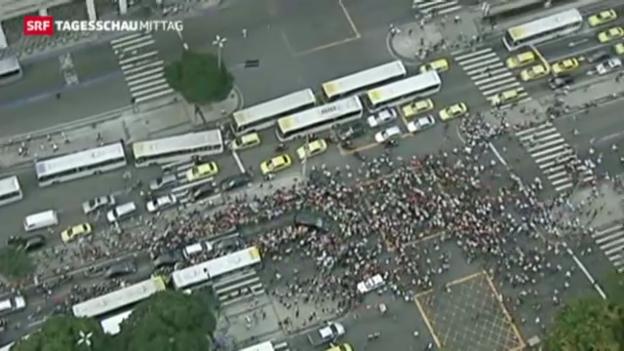 Video «Papst Franziskus in Brasilien» abspielen