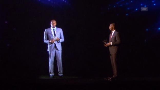 Video «Usain Bolt ist Weltsportler 2013» abspielen