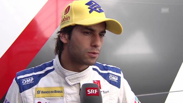 Video «Felipe Nasrs 1. Eindruck vom neuen Sauber C35: «Wir müssen noch viel vom Auto lernen»» abspielen