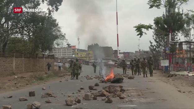 Video «Unruhen in Kenia nach den Wahlen» abspielen
