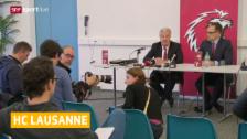 Video «Eishockey: NLA, Lausannes Verwaltungsrat setzt Ultimatum» abspielen