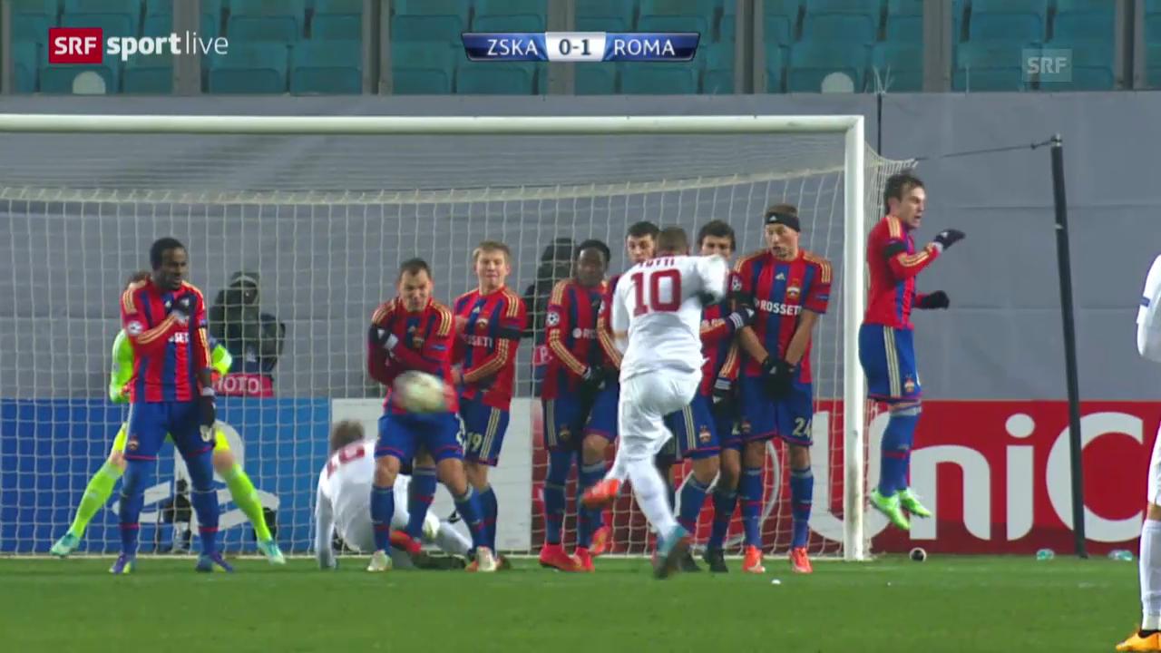 Fussball: CL, ZSKA Moskau-AS Roma