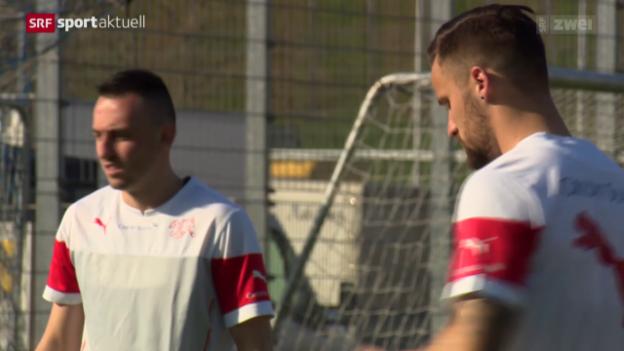 Video «Fussball: Aktuelles aus dem Nati-Camp» abspielen