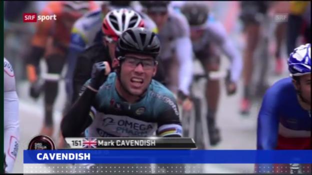 Video «Giro: Jubiläums-Sieg von Cavendish («sportaktuell»)» abspielen