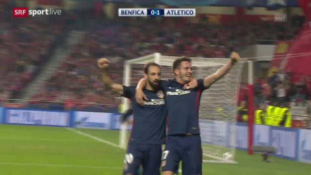 Video «Fussball: Champions League, Zusammenfassung Benfica Lissabon-Atletico Madrid» abspielen