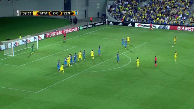 Video «Maccabis Medunjanin trifft per Freistoss» abspielen