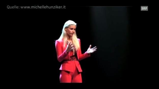 Video «Michelle Hunziker bei den Proben zu «Mi Scappa da ridere» in Italien» abspielen