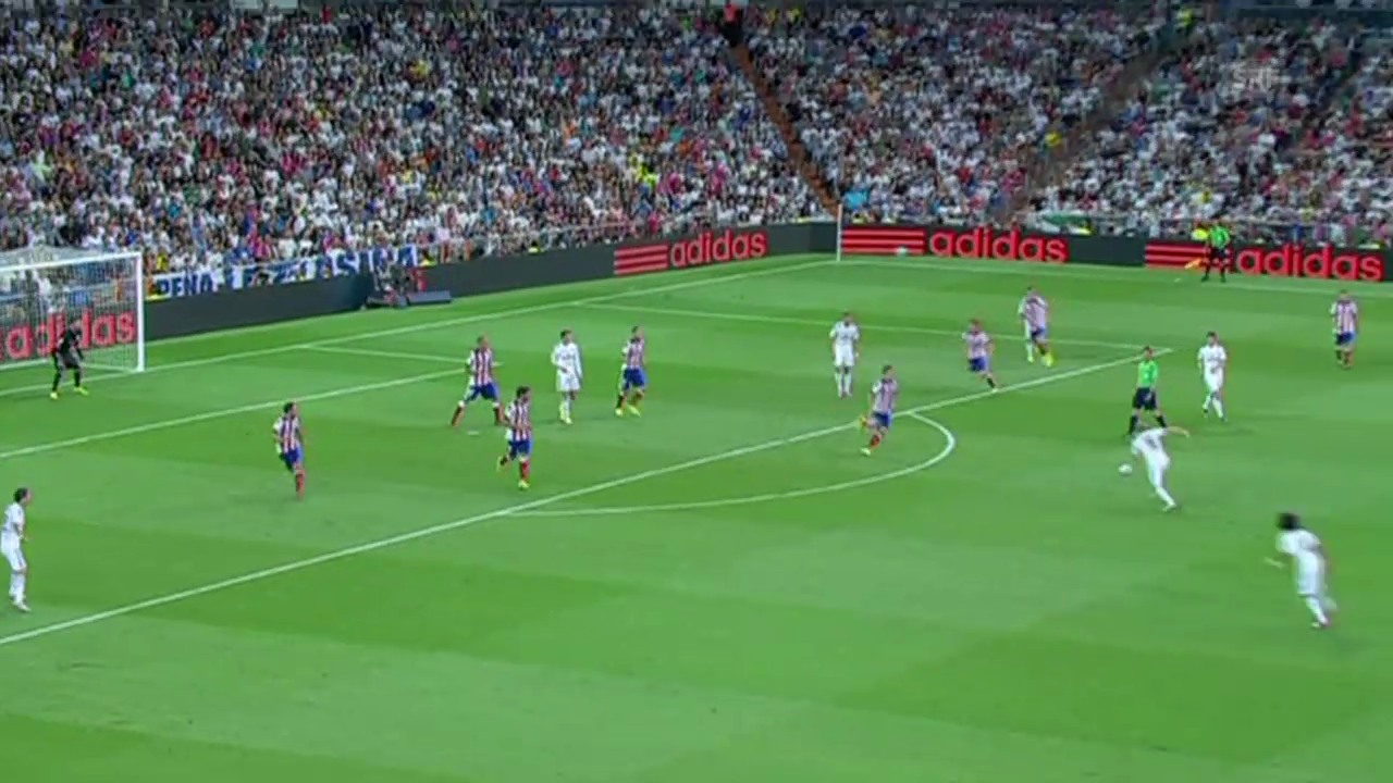Fussball: Spanischer Supercup, Real - Atletico, die Tore