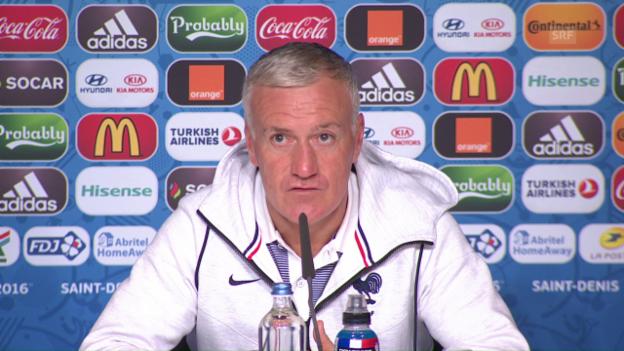 Video «Das sagt Didier Deschamps vor dem Island-Spiel (franz).» abspielen