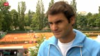 Video «Tennis: Roger Federer vor dem Turnier in Hamburg» abspielen