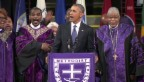 Video «Barack Obama stimmt Volkslied «Amazing Grace» an» abspielen