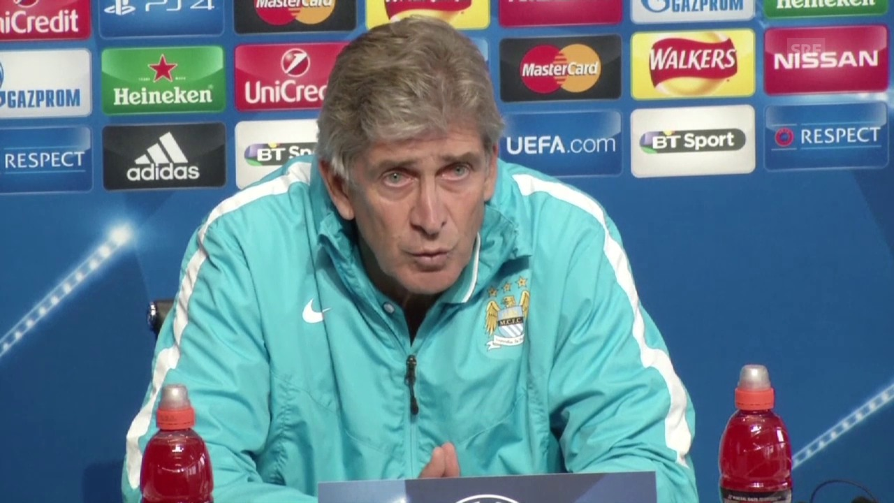 Fussball: Champions League, PK mit City-Trainer Pellegrini