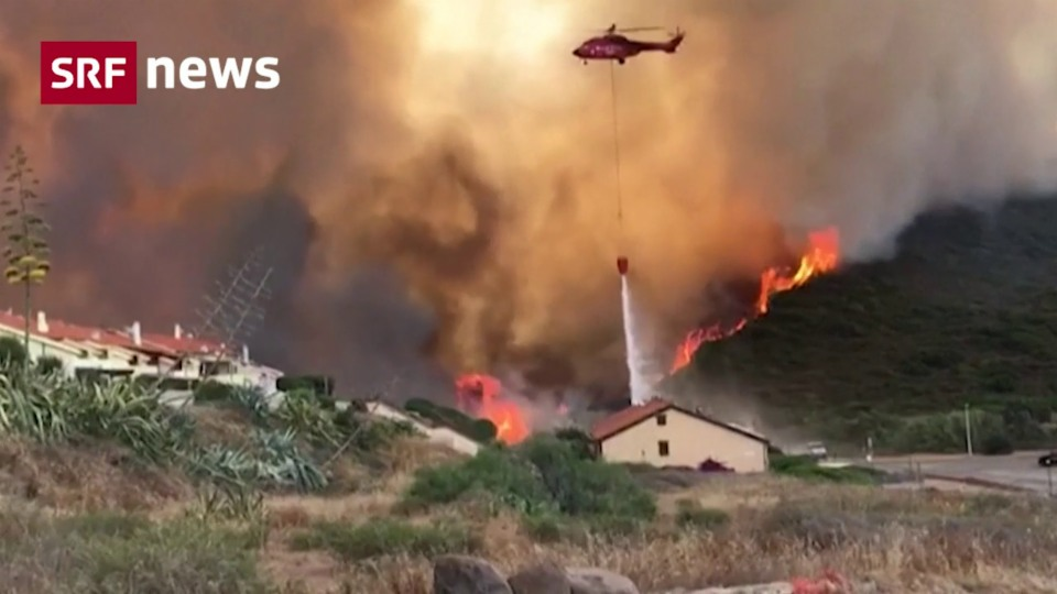 Waldbrände wüten auf Sardinien