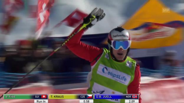 Video «Skicross: Weltcup Arosa, Final Männer mit Alex Fiva («sportlive», 7.3.2014)» abspielen
