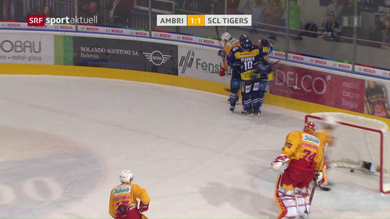 Eishockey: NLA, Ambri - Langnau