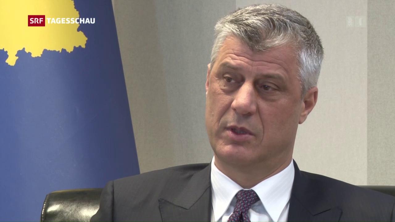 Hashim Thaçi stellt sich den Fragen von SRF