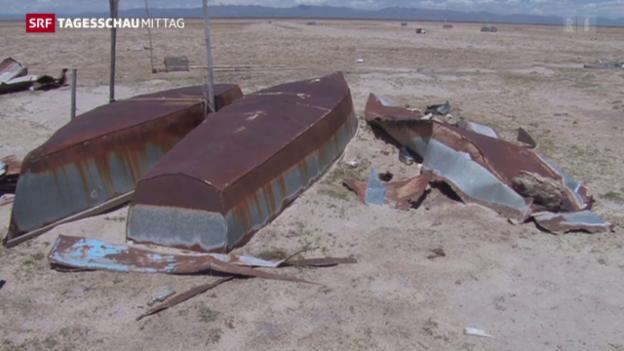 Video «Zweitgrösster See Boliviens ausgetrocknet» abspielen