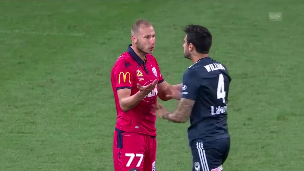 Unschöne Szene in der A-League