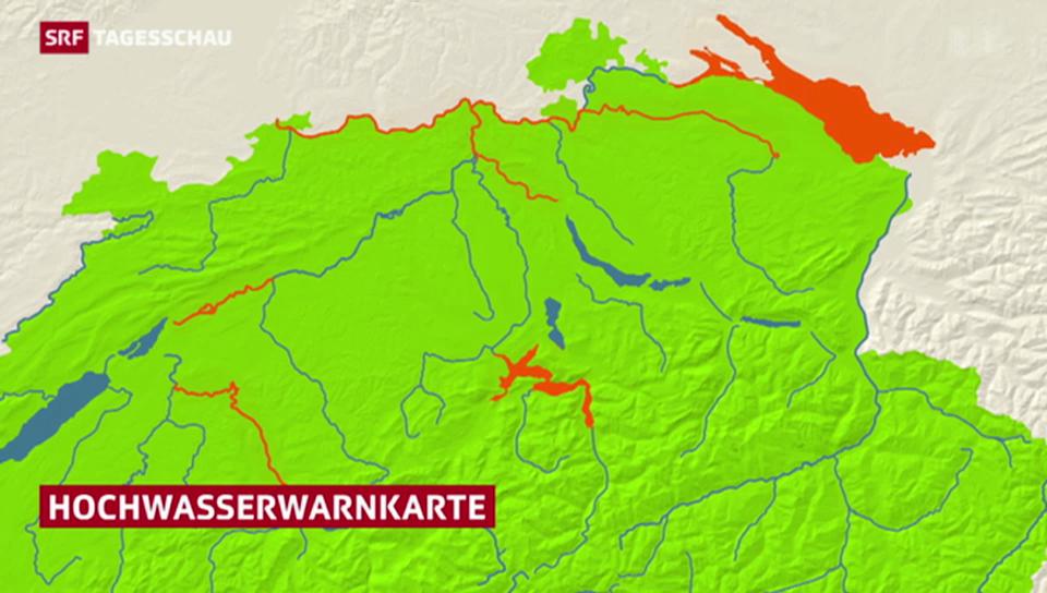 Hochwassersituation in der Schweiz