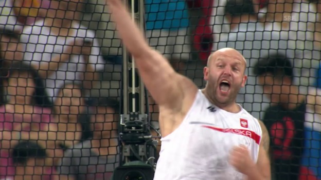 Video «Leichtathletik: WM in Peking, Entscheidung Diskus Männer, Sieg Malachowski» abspielen