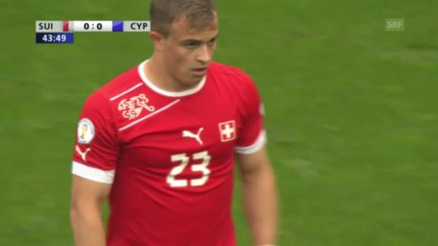 Video «Fussball: Shaqiris Chancen gegen Zypern» abspielen