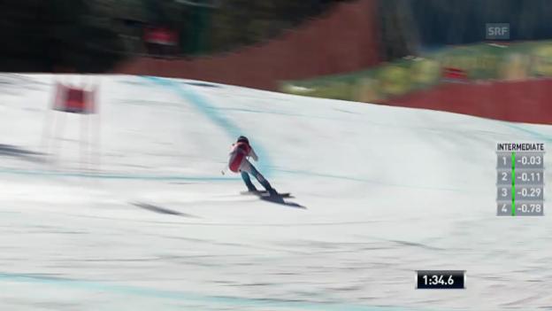 Video «Ski: Die Fahrt von Dominique Gisin» abspielen