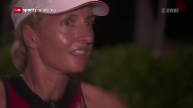 Video «Der letzte Auftritt von Natascha Badmann am Ironman Hawaii» abspielen