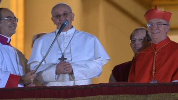 Video «Der erste Auftritt von Franziskus I.» abspielen