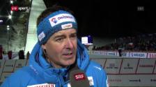 Video «Skisprung-Chef Schödler zum Schweizer Debakel in Engelberg» abspielen