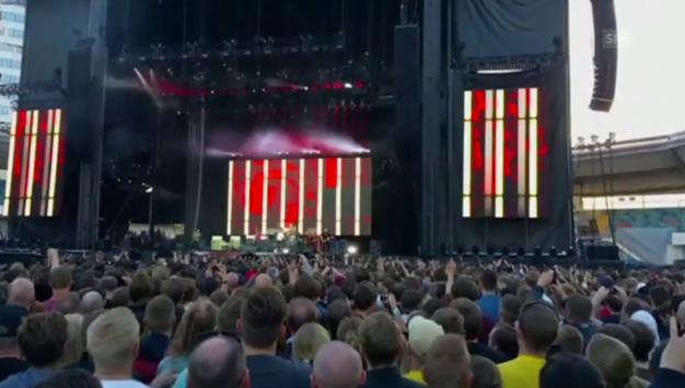 Video «Dave Grohl: Sturz von der Bühne» abspielen