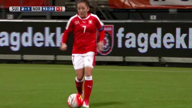 Video «Die Tore bei Schweiz-Norwegen» abspielen