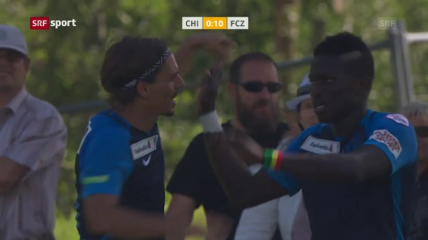 Video «FCZ schiesst Chippis mit «Stängeli» ab» abspielen