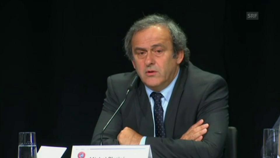 Platini fordert Blatters Rücktritt