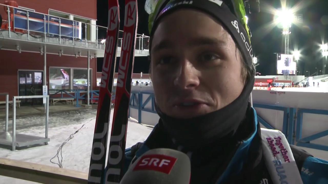 Biathlon: Weltcup, Männer, Einzel in Östersund, Interview mit Finello (französisch)