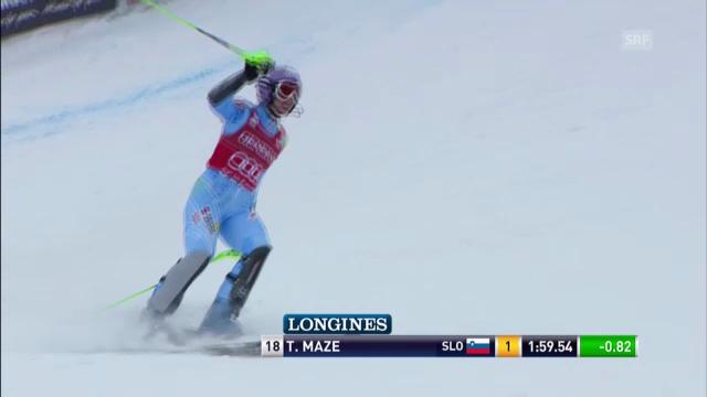 Ski: Superkombination Méribel, Slalom von Tina Maze